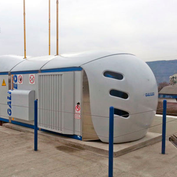 The LNG produced by the Cryobox Station can supply fuel